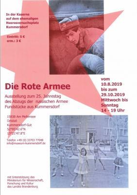 Vorschaubild zur Meldung: DIE ROTE ARMEE - Ausstellung zum 25. Jahrestag des Abzugs der russischen Armee