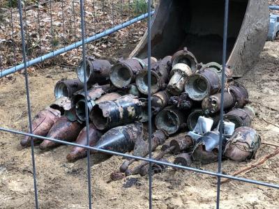 B. Mundt | 11 Granaten wurden vor Ort gesprengt.