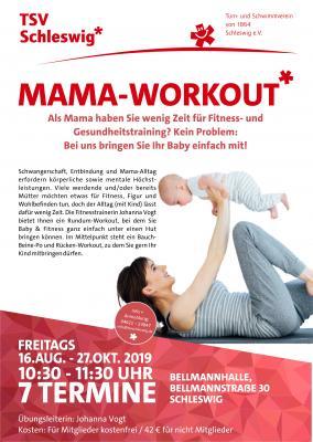 Vorschaubild zur Meldung: Noch Plätze frei! Mama-Workout beim TSV Schleswig