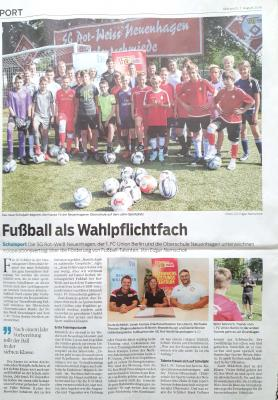 Foto zur Meldung: Kooperationsvertrag mit dem 1. FC Union Berlin und der Oberschule Neuenhagen