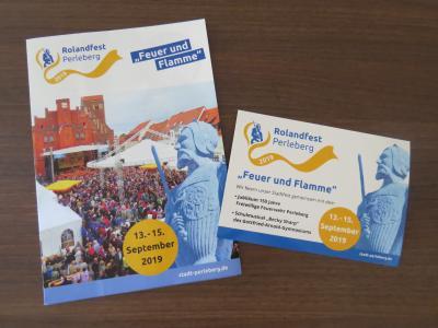 Stadt Perleberg | programmflyer zum diesjährigen Rolandfest vom 13. bis 15. September