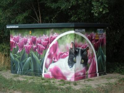 Foto zur Meldung: Neu in Rehfelde – gestaltetes Trafohäuschen
