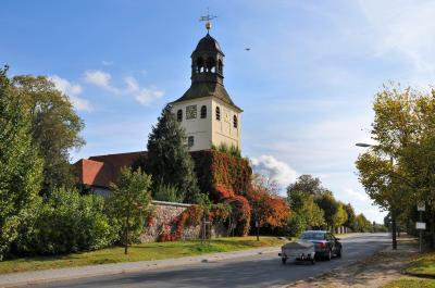 Blick auf die Friedersdorfer Barockkirche, Foto: Matthias Lubisch