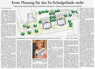 Vorschaubild zur Meldung: Planung für ehem. Schulgelände Oberpolling vorgestellt; PNP v. 20.08.2019