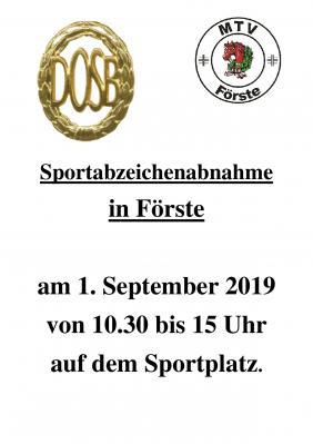 Vorschaubild zur Meldung: Sportabzeichenabnahme am 01.09.2019