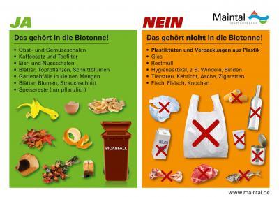 Bild der Meldung: Kein Plastik in die Biotonne