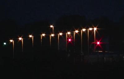 Haltepunkt Tantow in der Nacht