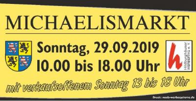Vorschaubild zur Meldung: Michaelismarkt und verkaufsoffener Sonntag am 29.09.2019