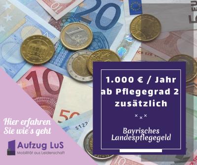 Landespflegegeld Bayern ab Pflegegrad 2