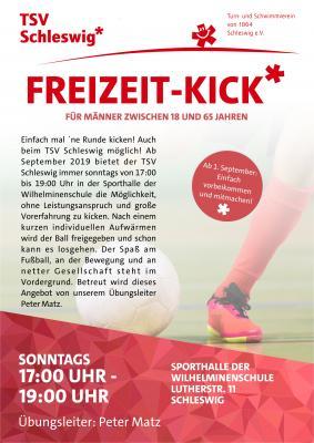 Vorschaubild zur Meldung: Neu beim TSV Schleswig - Freizeit-Kick