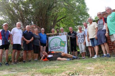 Foto zur Meldung: Heimatkundliche kombinierte  Rad- und Fußwanderung der Heimatfreunde