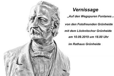 Vorschaubild zur Meldung: Vernissage am 10. September 2019 im Rathaus Grünheide