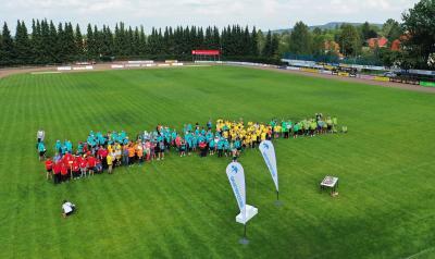 Luftaufnahme vom 25. Sportfest für Menschen mit Behinderung