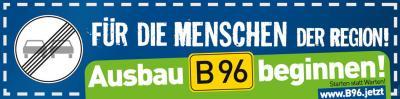 Vorschaubild zur Meldung: Gemeinsame Entschließung der Entwicklungsbeiräte B 96 – Oberhavel und Mecklenburgische Seenplatte