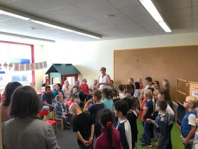 Einschulungsfeier im Schulkindergarten