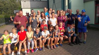 Foto zur Meldung: Laufsportler fegten durch den Stadtwald