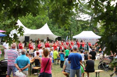 Foto zur Meldung: Sportliches Kiezfest Am Schlaatz gefeiert