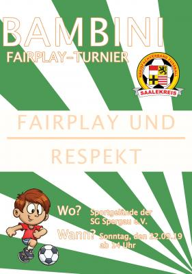Plakat 2. Bambini Fair Play Turnier 19/20