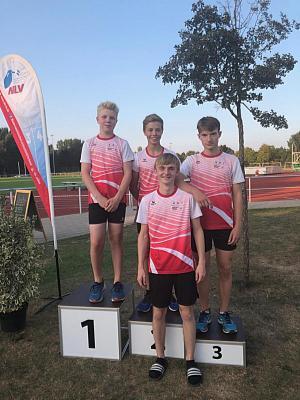 3. Platz für die 4 x100 m-Staffel der LG Osterode (Foto: K. Kriebel)