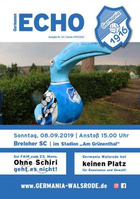 Germanen-Echo Nr.3 - Breloher SC  08.09.2019