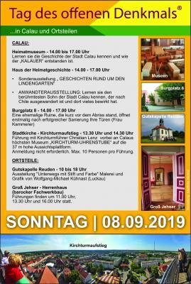 """Foto zur Meldung: Heimatverein Calau informiert über Aktivitäten am """"Tag des offenen Denkmals"""""""