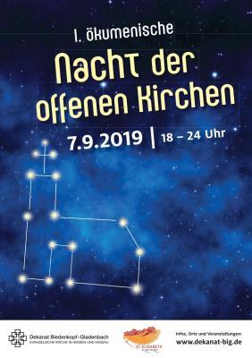 Plakat zur Nacht der offenen Kirchen