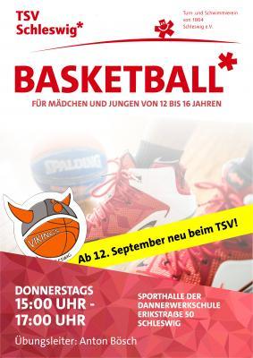 Vorschaubild zur Meldung: Basketballtraining für Jugendliche im Friedrichsberg