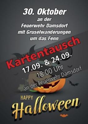 Foto zur Meldung: Kartenumtausch für Halloweenwanderung