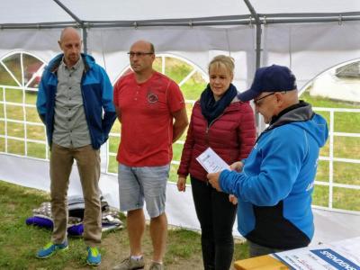 Foto zur Meldung: Sommerfest der Laufgruppe – mitten im Wald