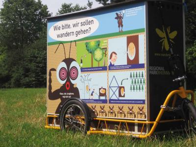Foto zur Meldung: Schwärmen für die Region - Die Wanderbienen des Regionalparks RheinMain sind zu Gast in Nauheim
