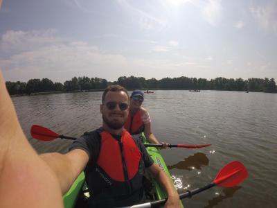 Vorschaubild zur Meldung: Erlebnispädagogischer Aktionstag: Kanadierfahrt über den Klein Köriser See