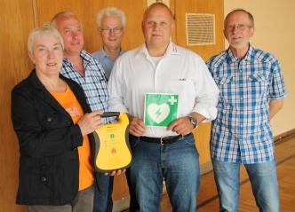 Bild der Meldung: AED Übergabe in Obenstrohe