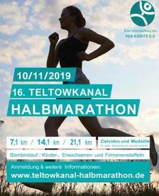 Vorschaubild zur Meldung: 16. Teltowkanal Halbamarathon