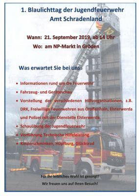 Vorschaubild zur Meldung: 1. Blaulichttag der Jugendfeuerwehr Amt Schradenland