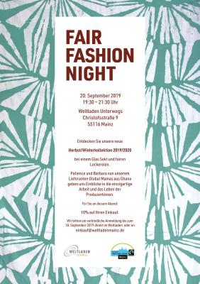 Plakat Fair Fashion Night