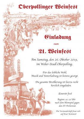 Foto zur Meldung: Einladung zum Oberpollinger Weinfest 2019