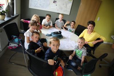 """Kinder der Kita """"Zwergenland"""" im Gespräch mit der Bürgermeisterin"""