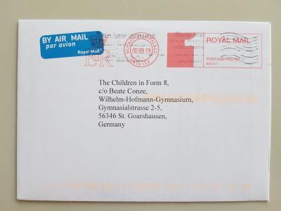 Klasse 9a des WHG erhält Post aus dem britischen Königshaus