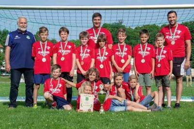 Foto zur Meldung: E1-Junioren / Ohne Niederlage zur Meisterschaft
