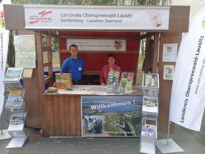 Foto zur Meldung: Landkreis zu Gast beim Brandenburger Dorf- und Erntefest 2019
