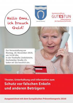 Vorschaubild zur Meldung: Hallo Oma, ich brauch Geld!