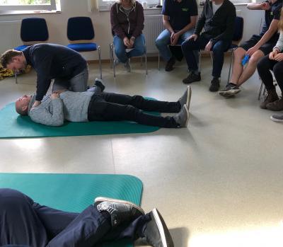 Vorschaubild zur Meldung: Jährliches Erste Hilfe Training absolviert