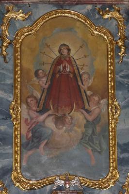 Altarbild der Weinberger Kirche - Sieben Schmerzen Maria
