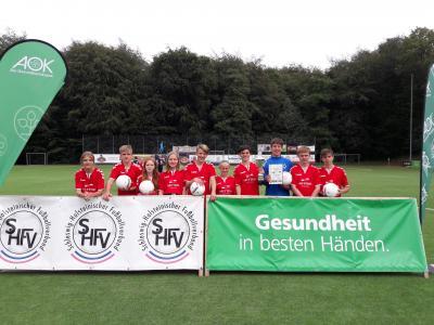 Fußballteam AOK Schulcup 2019
