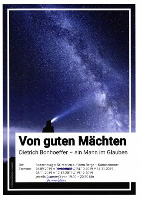 Vorschaubild zur Meldung: Themenreihe Dietrich Bonhoeffer, 24. Oktober