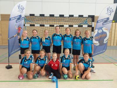 Foto zur Meldung: Handball-Nachwuchs: 1. E-Jugend des HSV04 Tabellenführer
