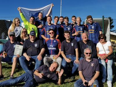 Vorschaubild zur Meldung: Feuerwehren Seester und Klein Nordende beim Fußballturnier auf Amrum