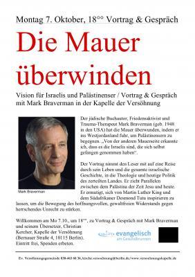 Die Mauer überwinden - Lesung mit Mark Bravermann