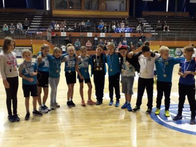 Foto zur Meldung: Siegerehrung in der Aßmann Sporthalle