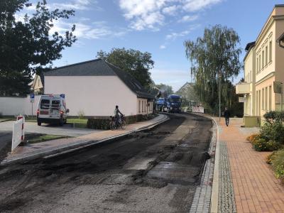 Foto zur Meldung: Bauarbeiten in der Friedensstraße gestartet